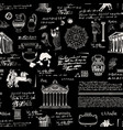 seamless pattern on the theme of ancient greece vector image vector image
