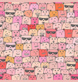 seamless pattern with cute bear background vector image vector image
