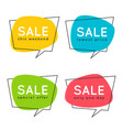 set of flat speech bubble shaped banners price vector image vector image
