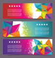 Set of modern banners with polygonal background vector image vector image