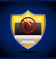 shield protection computer virus security vector image