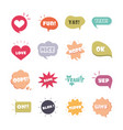 slang bubbles different words and phrases vector image vector image