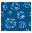 Snowflakes balls seamless pattern vector image vector image