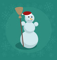 snowman flat vector image vector image