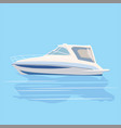 speedboat rest travel vector image vector image