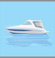 speedboat rest travel vector image