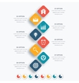 square infographics with icons vector image vector image