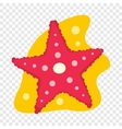Starfish flat icon vector image