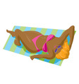 Sunbather Girl Bikini vector image vector image
