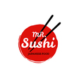 Sushi logo on white background vector image