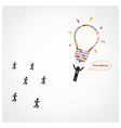 Think different stand out from crowd vector image vector image