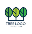 tree logo original design green eco badge vector image