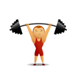 weightlifter lift up the rod vector image vector image