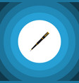 isolated writing tool flat icon nib pen vector image