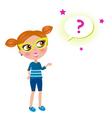 school geek child vector image