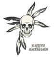 The Indian Skull vector image