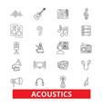 acoustics sound music guitar electric vector image