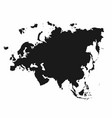 eurasia map monochrome eurasia continent icon vector image