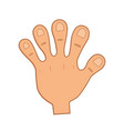 a human hand cartoon vector image vector image