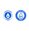 additives free 0 percent icon natural food vector image vector image