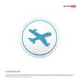 aeroplane icon - white circle button vector image vector image