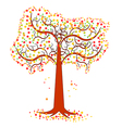 An autumn tree vector image