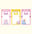 baby love cards collection vector image