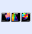 banner template set with colorful gradient vector image vector image