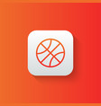 basketball line icon isolated on gradient vector image vector image