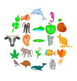 biosphere icons set cartoon style vector image vector image