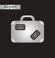 black and white style icon suitcase vector image vector image