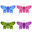 butterflies in multi-colored forms vector image