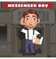 Cartoon character in Wild West - messenger boy vector image