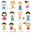 cartoon kids vector image vector image
