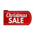 christmas sale banner design vector image