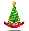Christmas tree Isolated on white backgroud vector image vector image