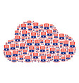 cloud collage of uncle sam hat icons vector image vector image