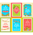 collection of christmas templates with hand vector image