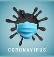 coronavirus covid-19 2019-nkov virus unit vector image