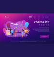 corporate party concept landing page vector image vector image