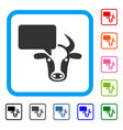 cow opinion framed icon