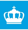 Crown white icon vector image vector image