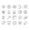 data analytic protection and social network icons vector image vector image