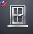 Door icon symbol 3D style Trendy modern design vector image