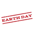 Earth Day Watermark Stamp vector image vector image