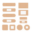 elastic medical plaster or adhesive bandage set vector image vector image