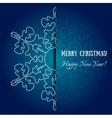 element holiday snowflake vector image
