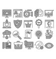 eo and web optimization icons vector image vector image