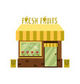 facade a cute fresh fruit store with an awning vector image