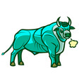 fantasy standing powerful strong bull vector image vector image